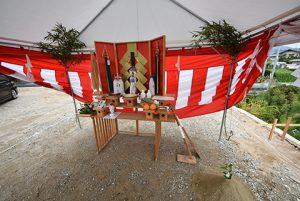 佐伯区千同1丁目の土地ご成約者による地鎮祭