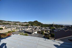 広島市西区己斐上3丁目の買取土地の現地からの眺望