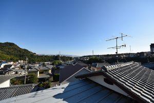広島市西区己斐上3丁目の買取土地の現地からの開放感のある眺望