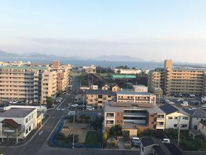 ライオンズマンション井口のバルコニーからの瀬戸内海の眺望