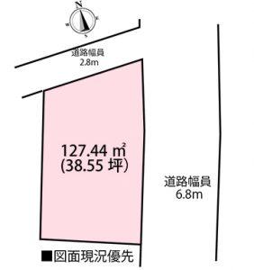 佐伯区利松1丁目の自社土地の区画図