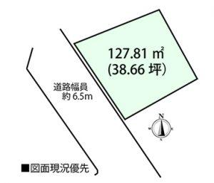 佐伯区三宅3丁目土地の区画図