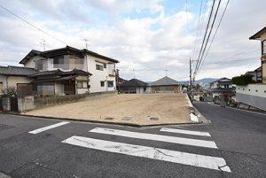 広島市西区己斐上3丁目の自社買取土地の外観