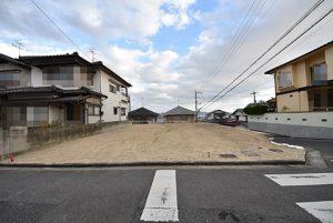 広島市西区己斐上3丁目の自社買取土地の外観正面