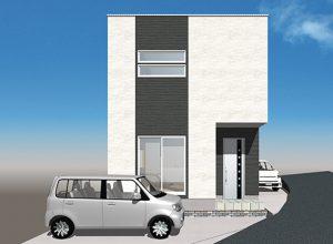 広島市佐伯区千同3丁目の新築建売一戸建ての外観イメージパース