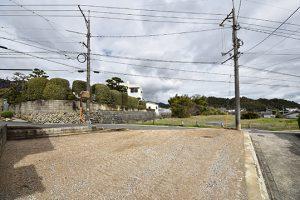 広島市佐伯区千同3丁目の買取土地の更地の様子