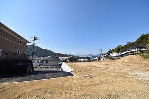 広島市東区戸坂大上の買取土地の外観と眺望