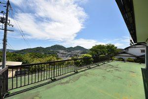 安佐南区安東土地の古家2階からの眺望