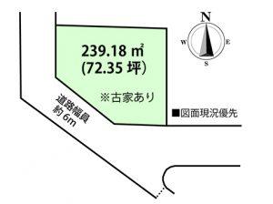広島市安佐南区安東4丁目の土地区画図