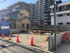 宇品西3丁目の新築一戸建て基礎工事の様子