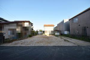 佐伯区三宅5丁目建築条件付き土地の正面全景