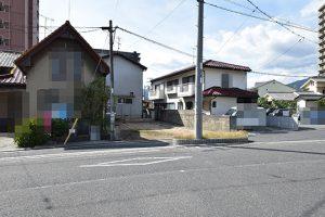 廿日市市須賀土地の前面道路外観画像