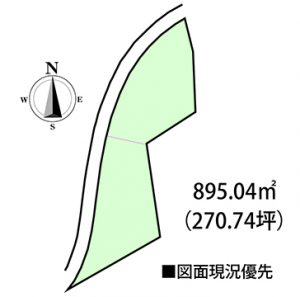 玖島の土地区画図
