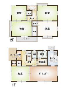 矢野東3中古住宅の間取り