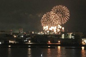 広島みなと花火大会バルコニーからの眺望