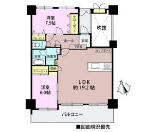 五日市ヒューマンズ208号室の間取り図