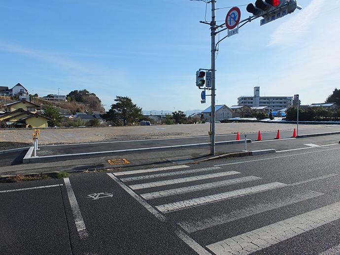 西広島バイパス道路から撮影した土地の眺望