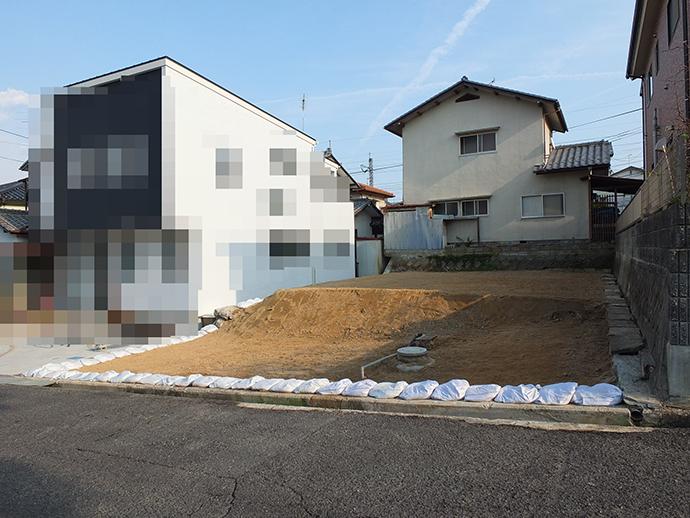 古家解体後の更地の写真