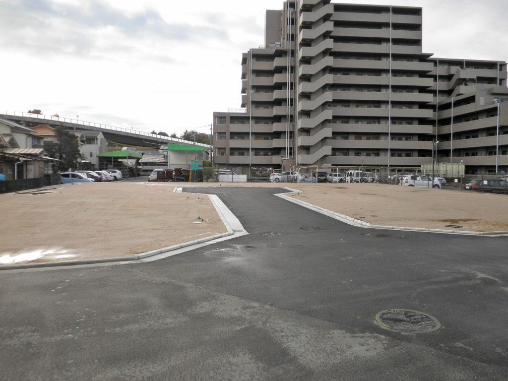 廿日市市宮内新屋敷全6区画の造成完了全景