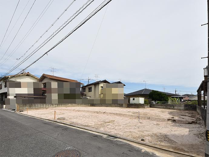 古家解体済みで買い取った佐方2丁目の2区画土地