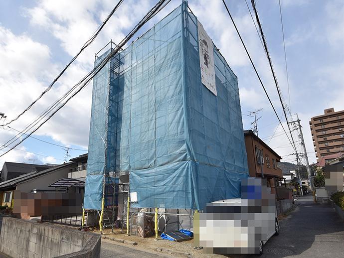 この土地に建築中の注文住宅外観画像