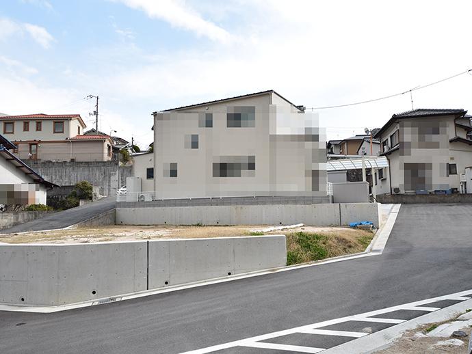府中町山田の造成後の買取土地の外観写真