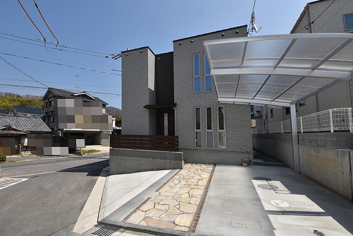 府中町山田の土地に建築された注文住宅完成写真