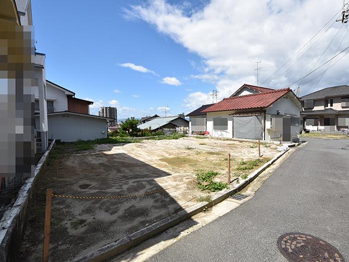 矢野東の土地は面積45.94坪で整形地の写真