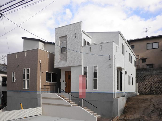 府中町八幡3丁目新築建売2棟の完成外観写真