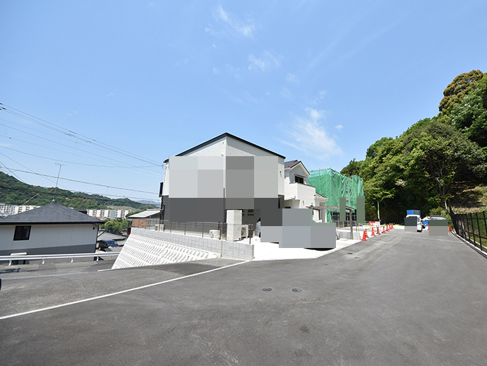 戸坂大上買取土地での建築風景