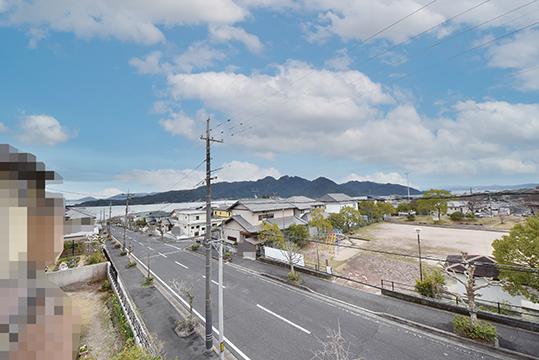 阿品4丁目売土地の現地から眺望撮影