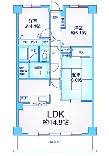ウィングヒル神宮山602号室間取り図